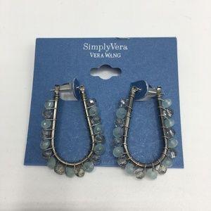 4/$10 Simply Vera Boho Bead Hoop Earrings